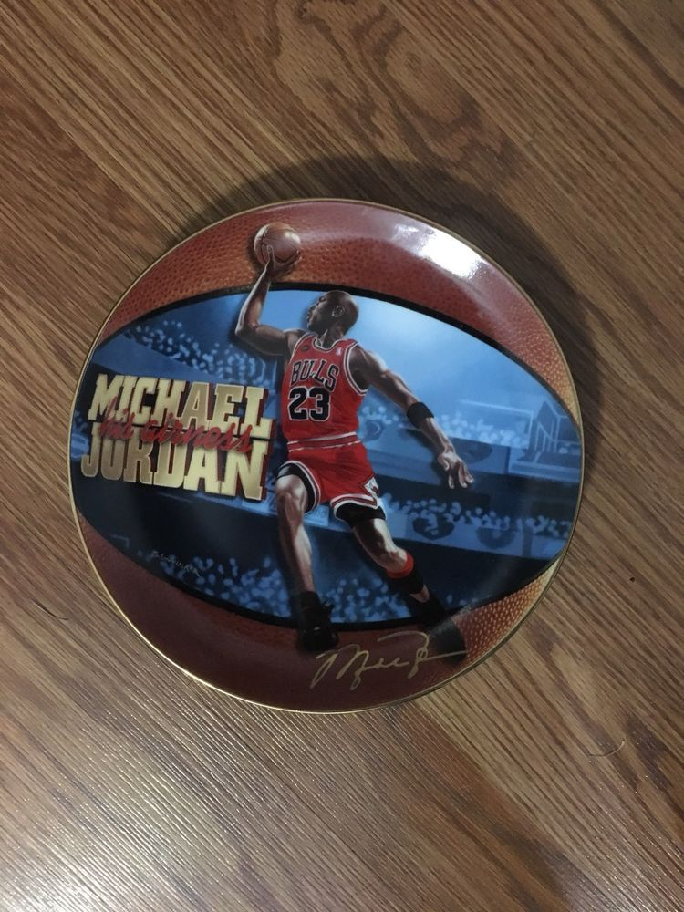 cheap for discount 371ba 842d7 Michael Jordan 6 Time NBA Champion Rare Limited Edition Collector Plate    eBay