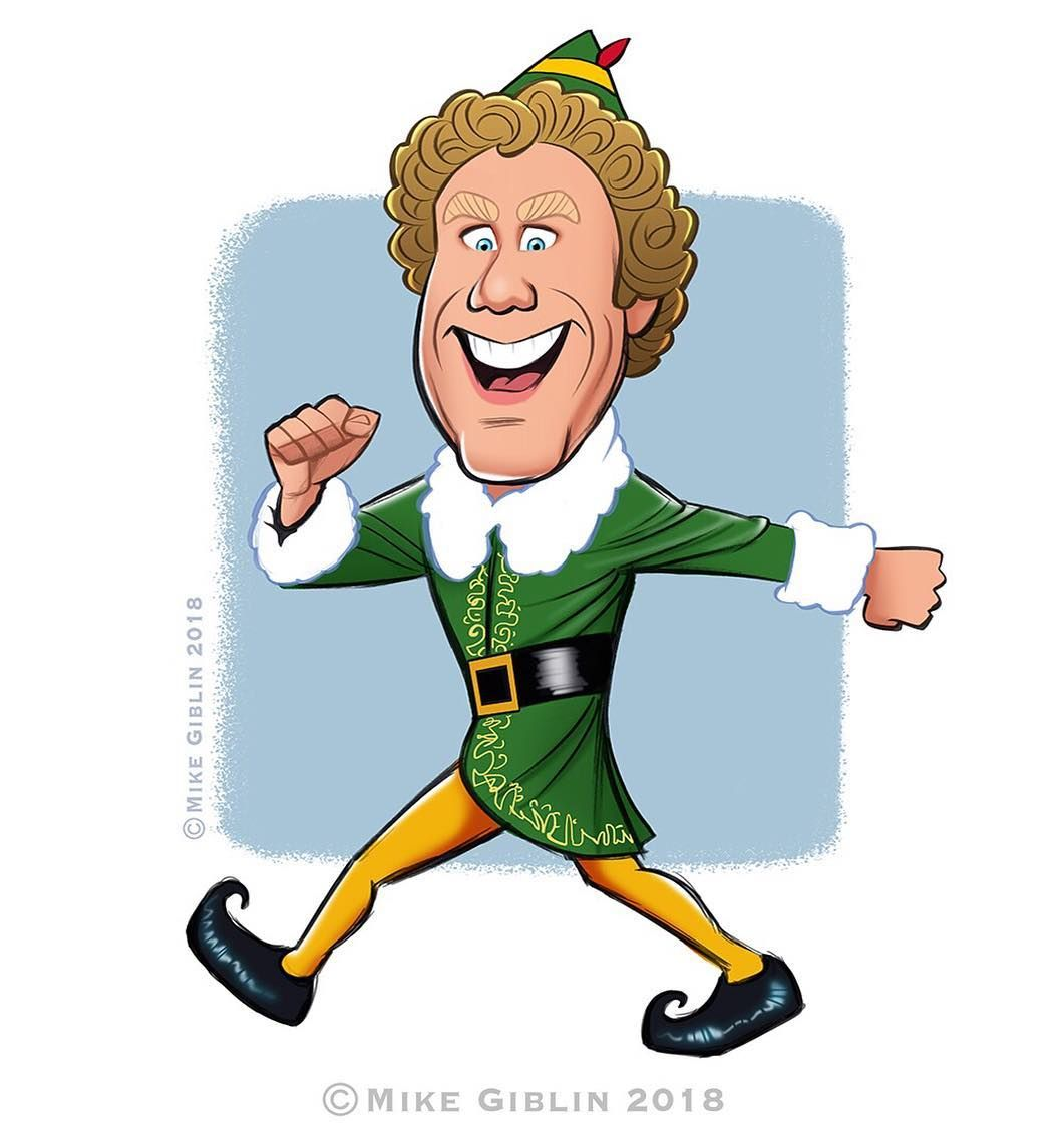 195 Likes 4 Comments Mike Giblin Mikegiblinillustration On Instagram It Seems Like Everyone And Their Dog Is Drawing Buddy Cartoon Elf Cartoon Elf Art