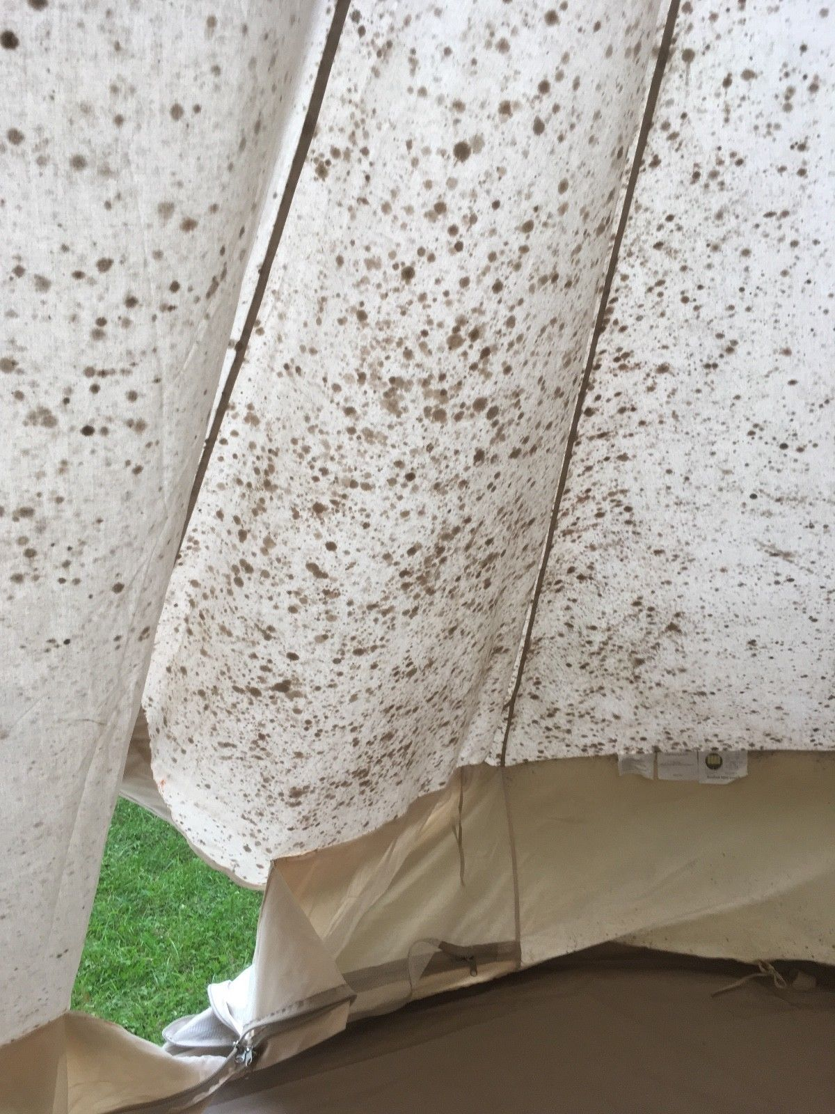 Saved By The Bell Tent Removing Mildew From A Cotton Tent Remove Mould From Fabric Tent Mold Smell