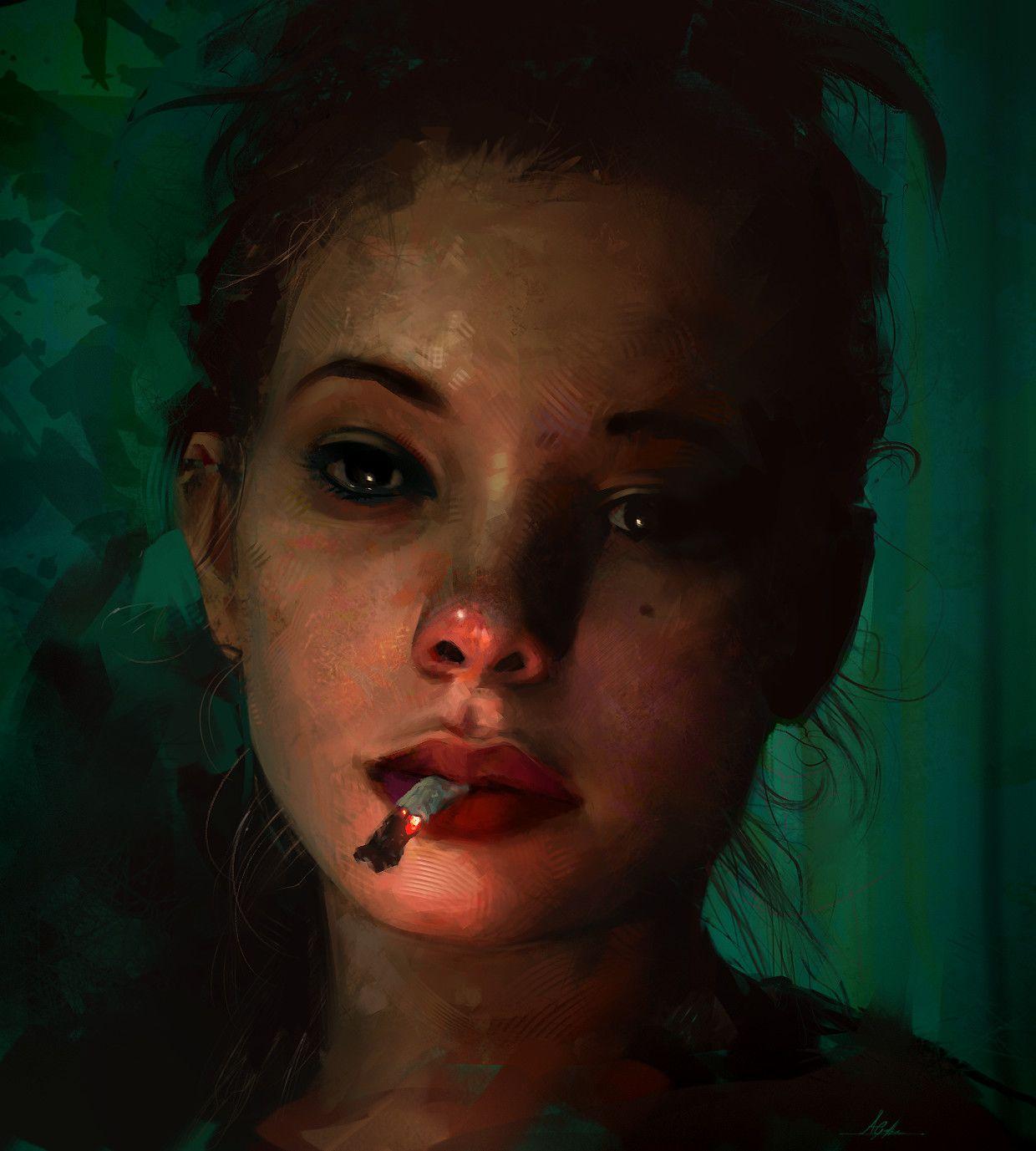 ArtStation - Cigarette, Aaron Griffin