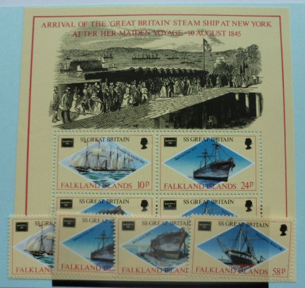 Falkland Islands Stamps 1986 Ameripex 86 International Stamp Exhibition Chicago SG527-530 MS531, Mint NH