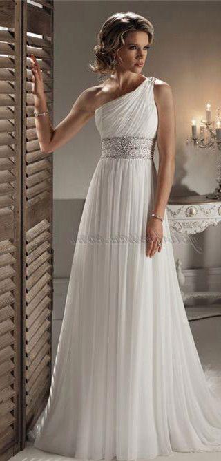 Beach Wedding Dress With Images Grecian Wedding Dress
