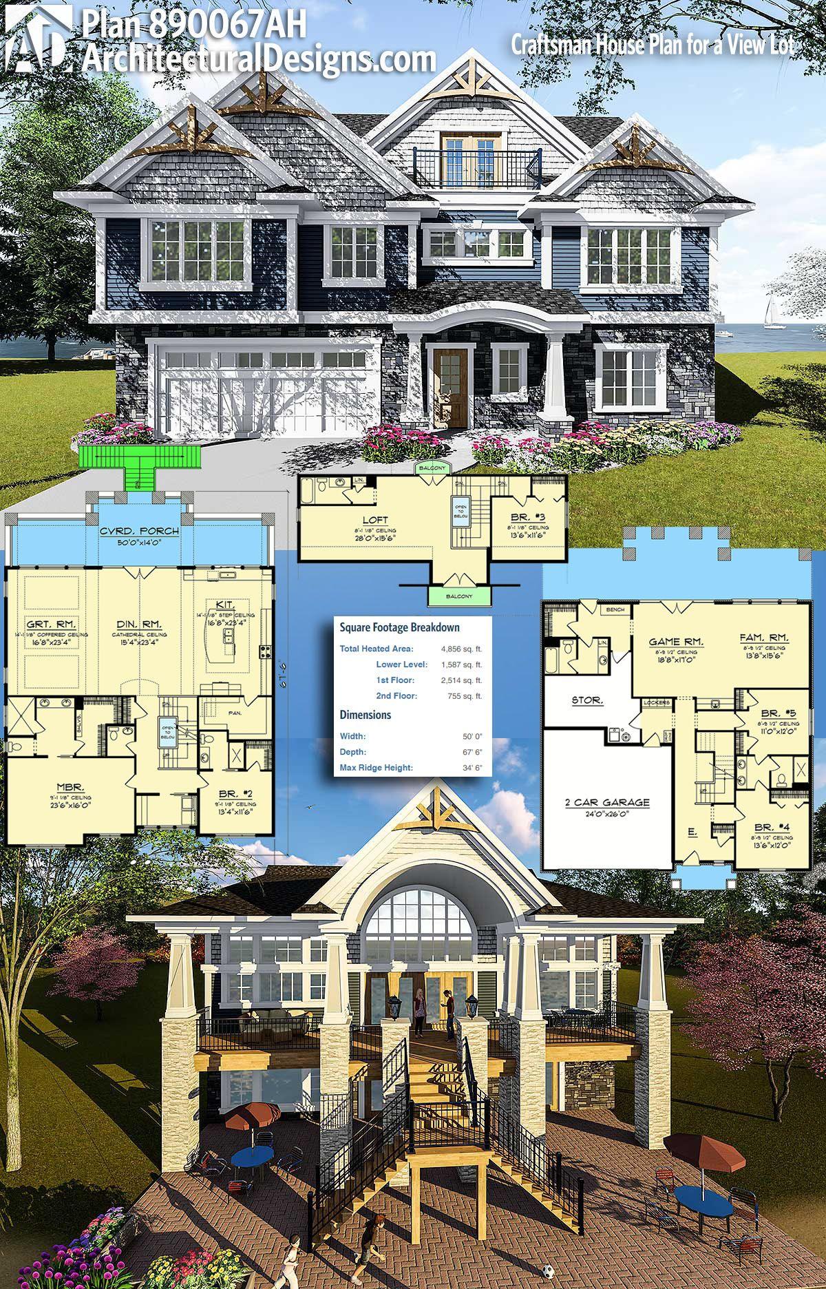 Plan 890067AH Craftsman House Plan for