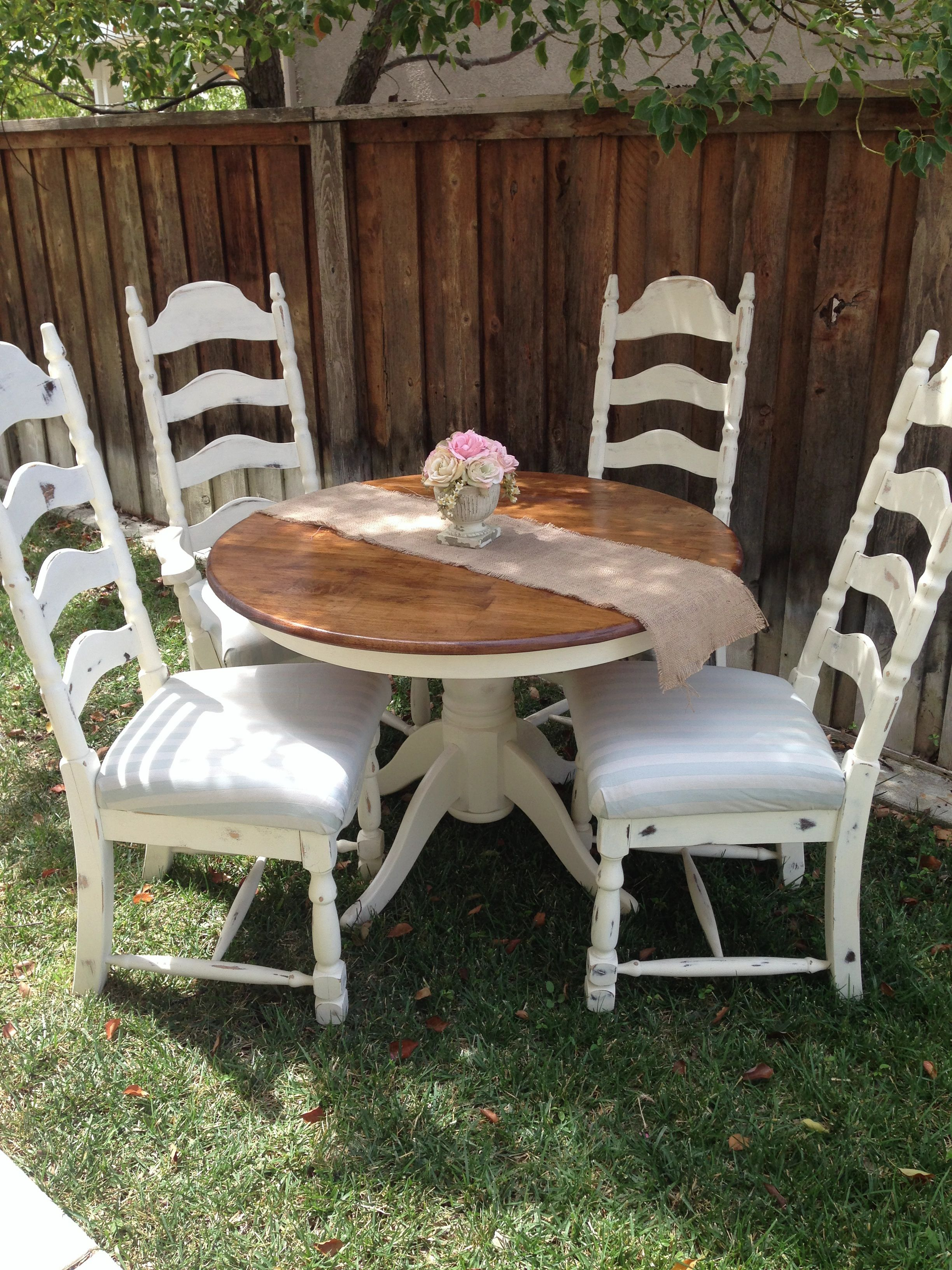 This Lovely Completely Refinished Table Is Painted Cream