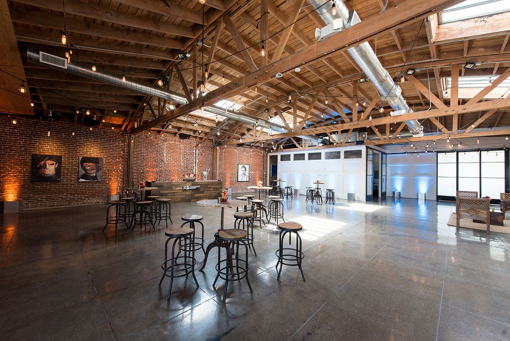 Mid City Finished Event Loft Space Bow Truss Ceilings In Los