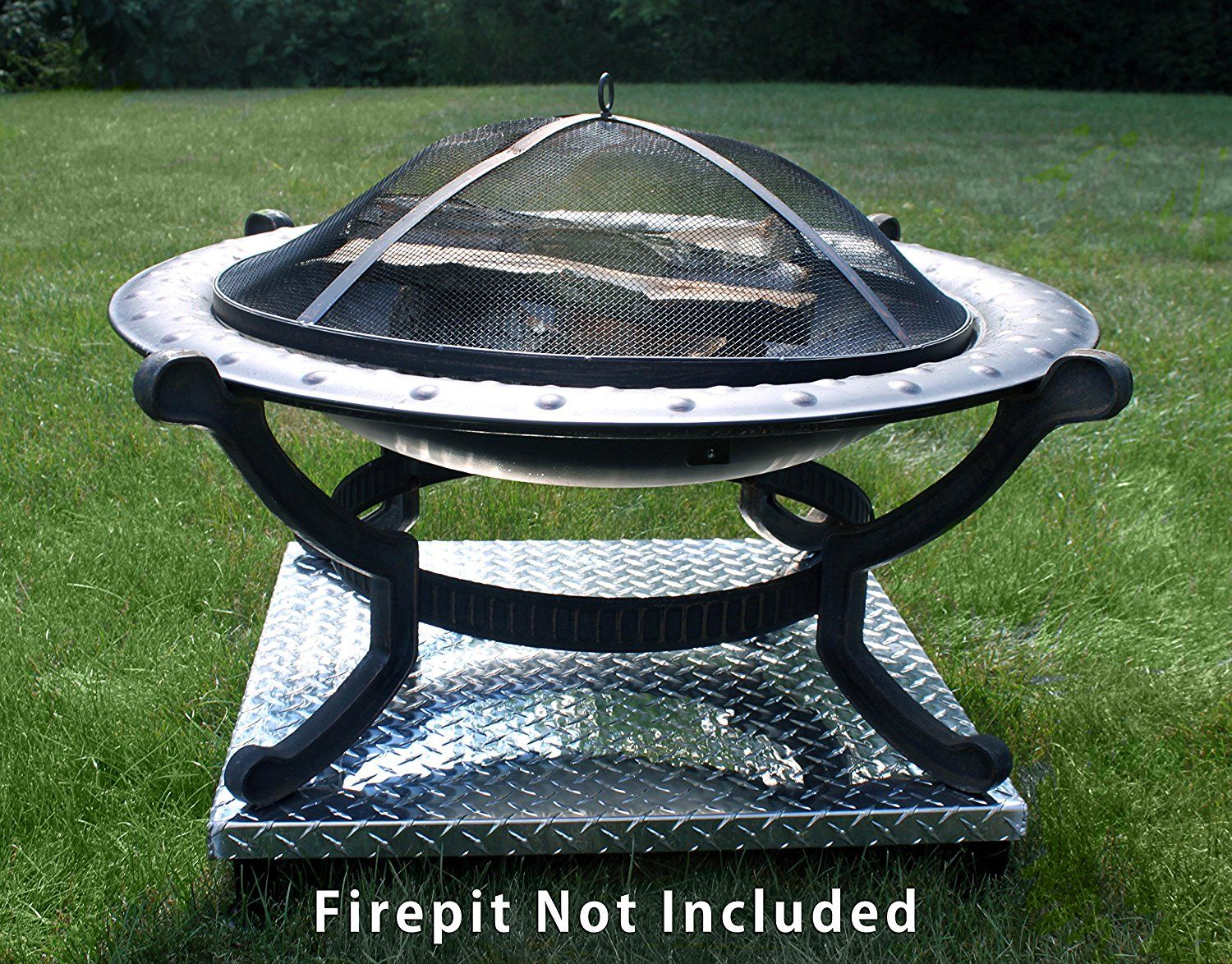 Amazon Com Deck Defender Amp Grass Guard Fire Pit Heat Shield Patio Lawn Amp Garden Fire Pit On Grass Fire Pit Fire Pit Heat Deflector