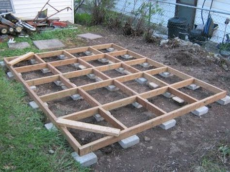 Concrete Blocks For Shed Floor Frame Google Search Shed Floor