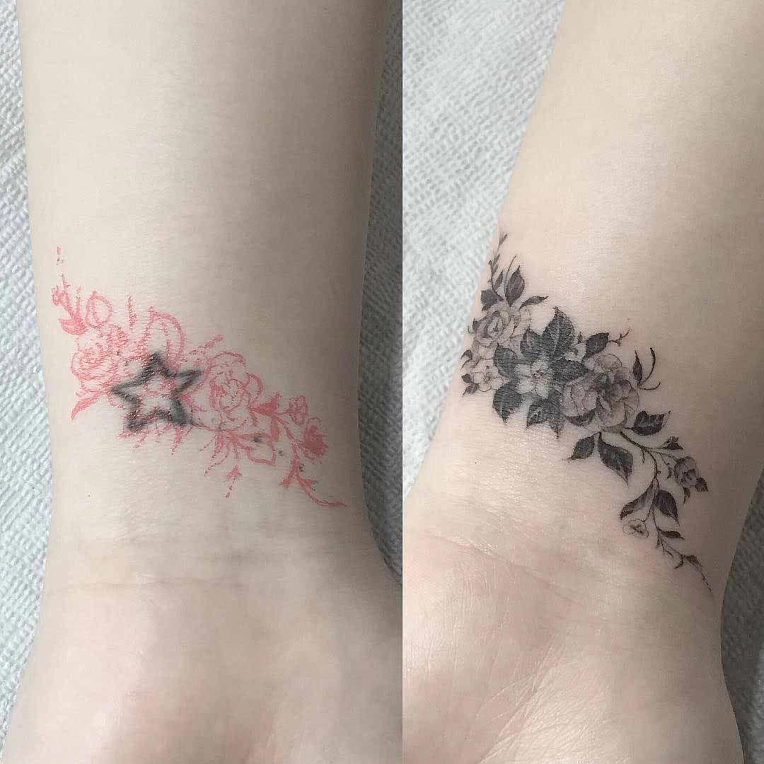 Small Tattoo Girls Smallwristtattoogirls Wrist Tattoo Cover Up Cover Up Tattoos Flower Cover Up Tattoos