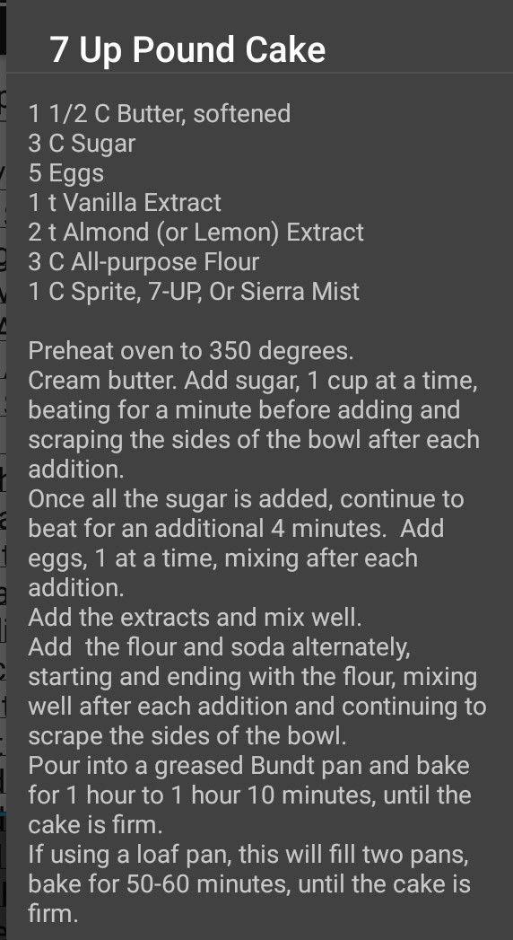 7-up pound cake #peachcobblerpoundcake