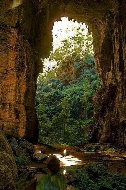 Cavernas Parque Nacional Peruaçu em Minas Gerais, Brasil. Cavern National Park Peruaçu in Minas Gerais, Brazil