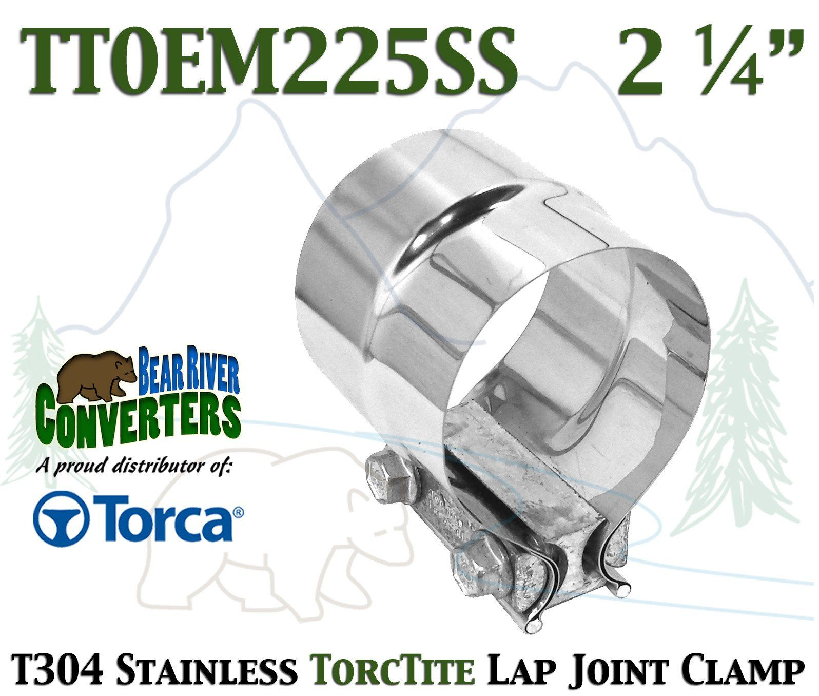 """Stainless Lap Joint Exhaust Clamp Sleeve Band For  Nissan  2/"""" Exhaust OD Pipe"""