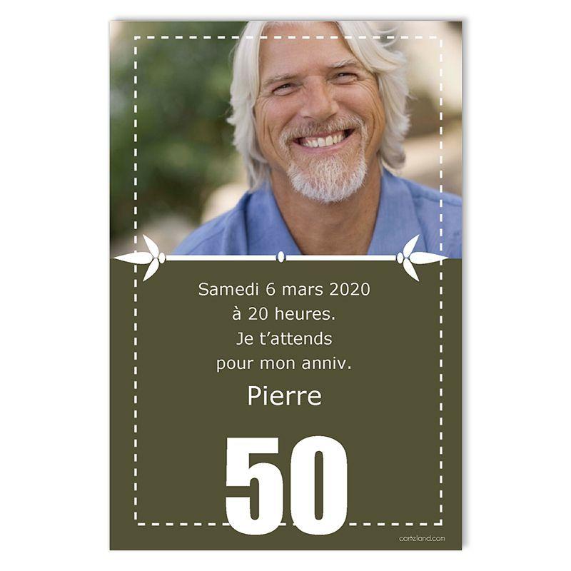 Carte Invitation Anniversaire 50 Ans Originale