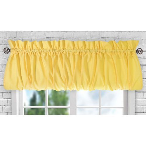 Stacey Yellow 60 x 15-Inch Balloon Valance