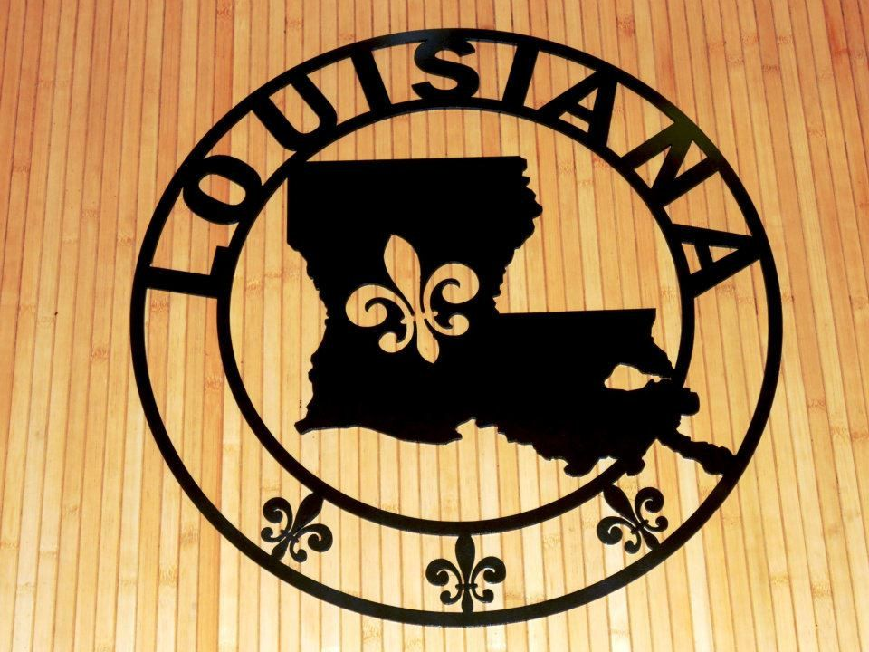 Louisiana State Fleur de lis Personalized Plaque Customizable House ...