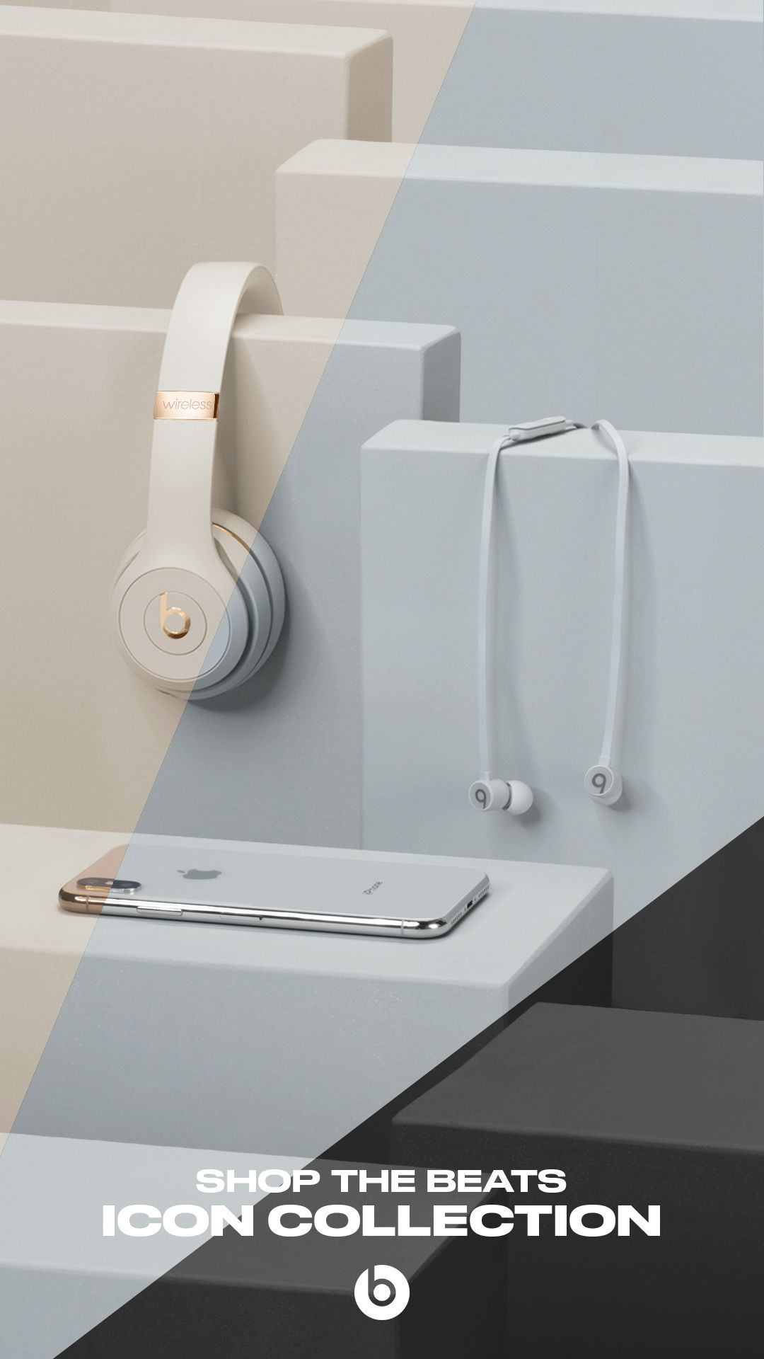 f56cb09c636 Shop the Beats Icon Collection for wireless headphones and earphones in  elegant colors like Satin Gold, Satin Silver and Black to match the new  iPhone.