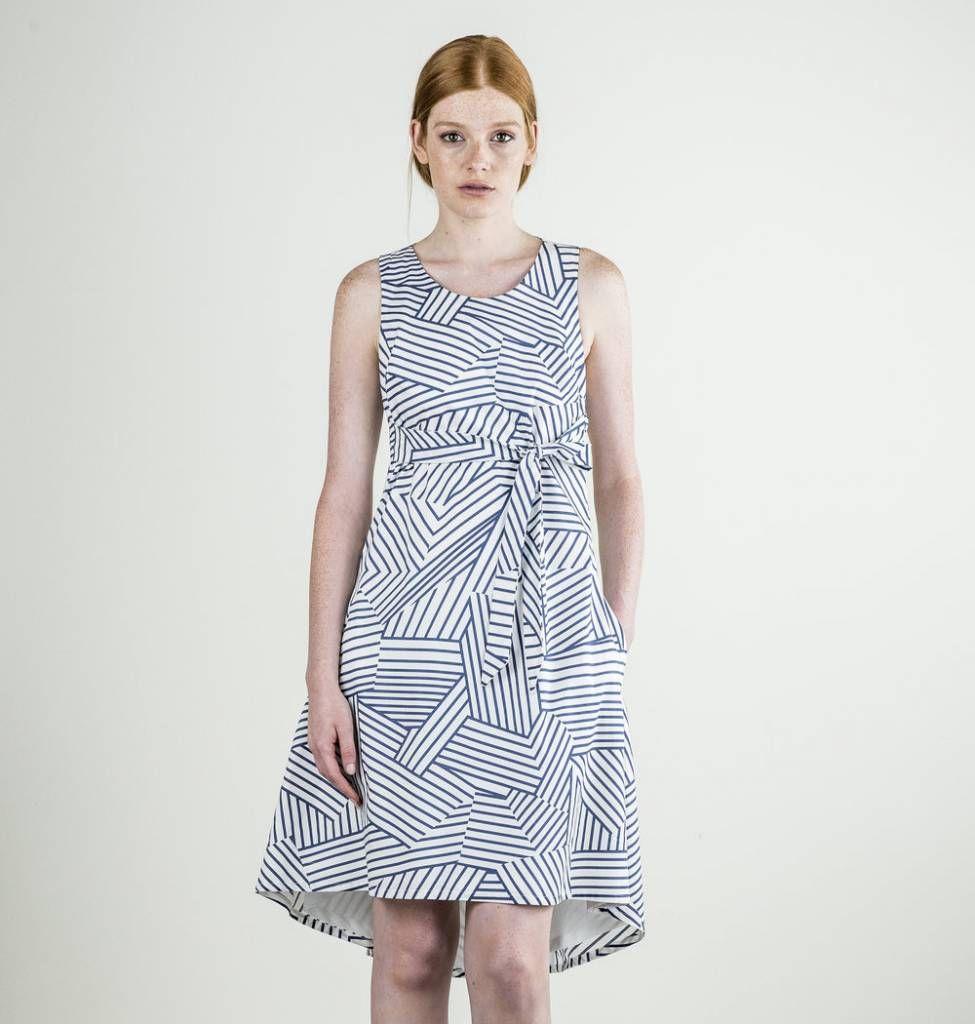 Bodybag paris dress geometric pattern printed cotton a