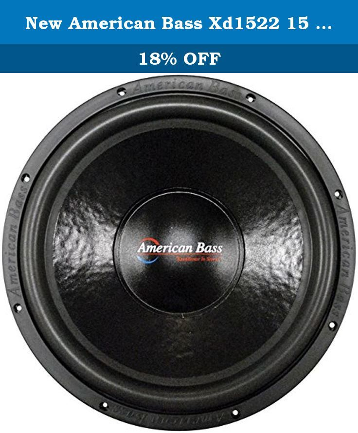 New American Bass Xd1522 15 Inch Dual 2 Ohm Subwoofer Car Audio Sub ...