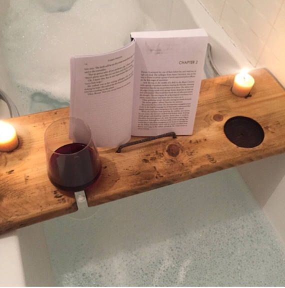 Bath Board Bath Tray Book Holder Tablet Holder Phone | Mans Wish ...