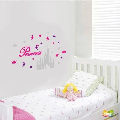 Vinilo Decorativo Infantil Princesas Hadas Castillo