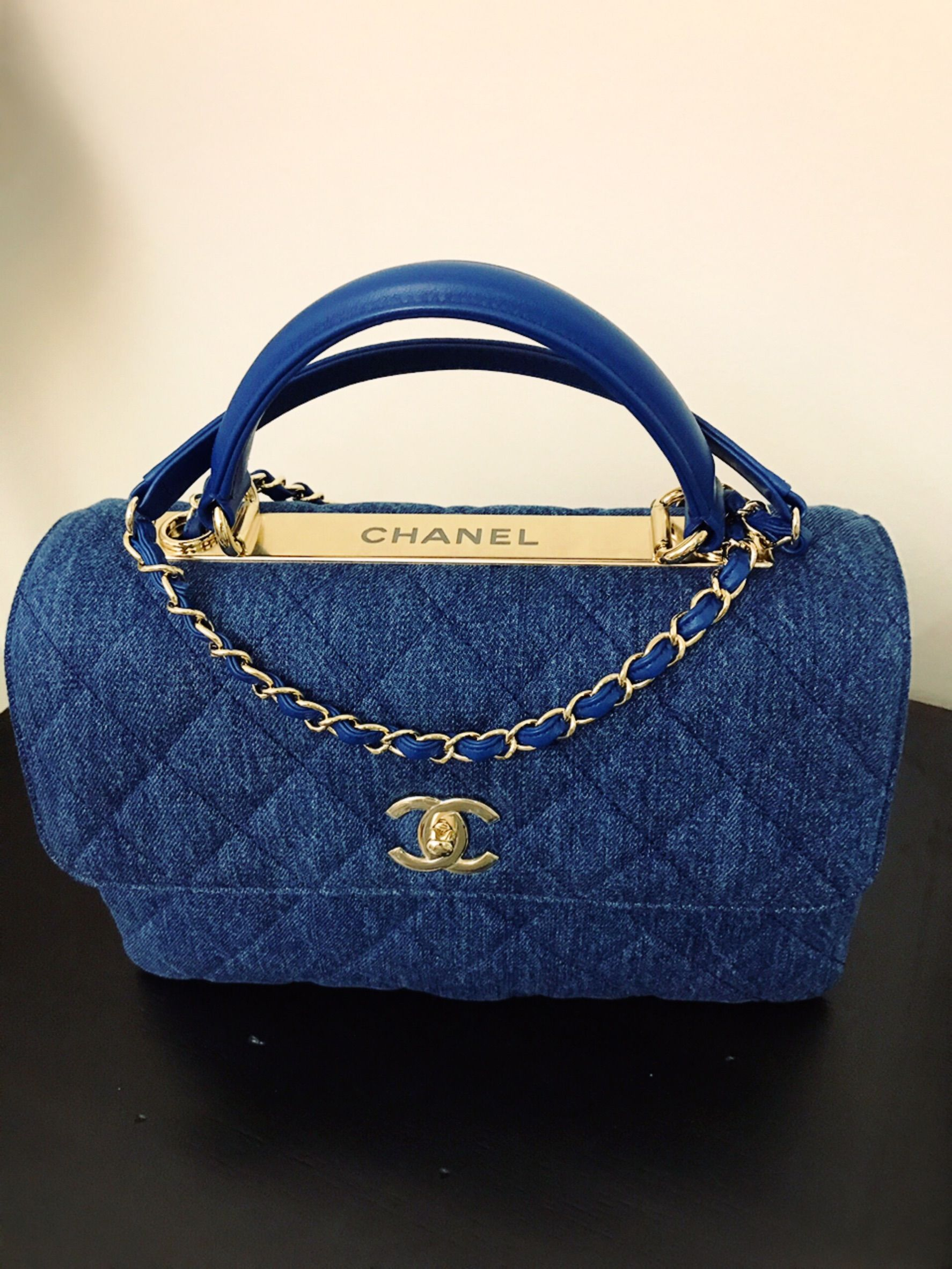 89cd2bd4083ffd Chanel trendy cc denim bag, D'ART 2017 In style .. light weight with rooms