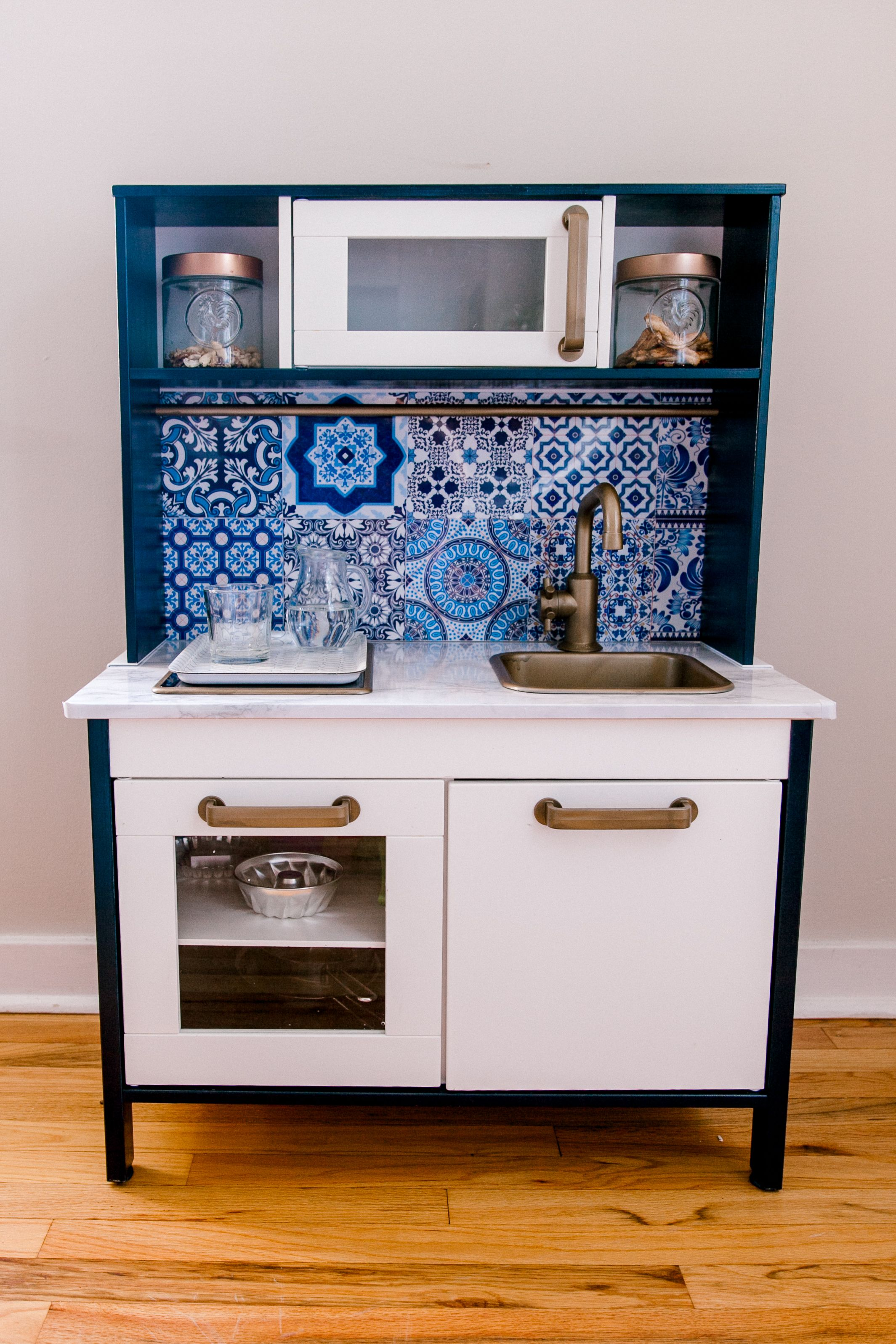 IKEA HACK BLUE MODERN PLAY KITCHEN (INSPIRED BY MOROCCO