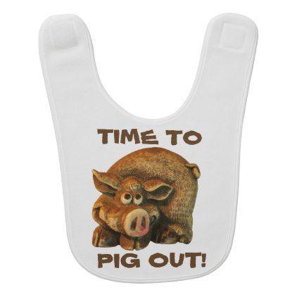 Cute little Hog Time To Pig Out Bib   Zazzle.com   Newborn ...