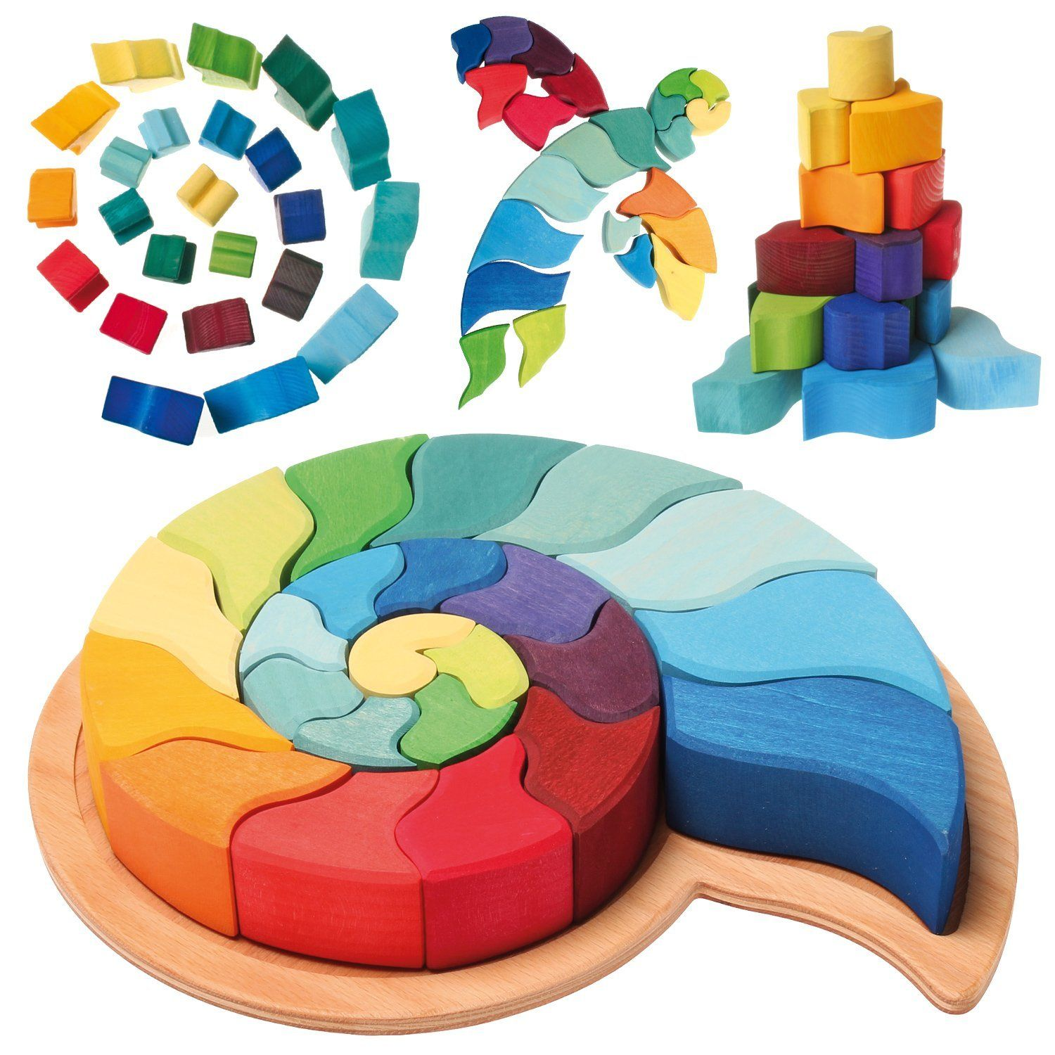 Ammonite Snail Shell Figurative Puzzle of Creative Wooden
