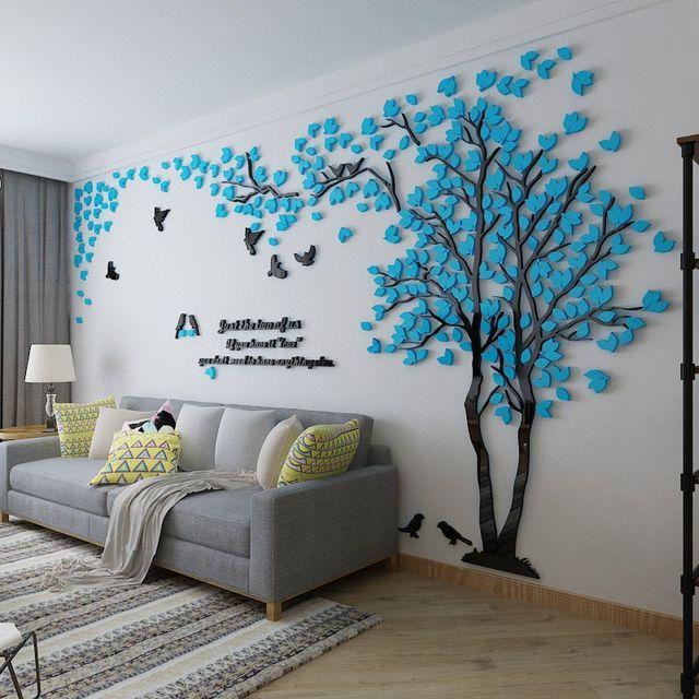 3D Murais De Parede Grande Árvore para Sala de estar Quarto Cenário Sofá TV Fundo Adesivos de Parede Casa Decorações de Arte Loja Online | aliexpress móvel