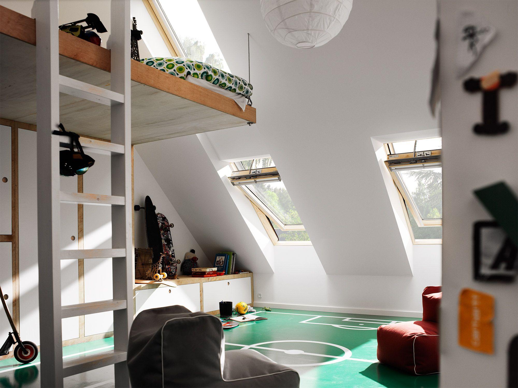 Kinderkamer zolder dakkapel kinderen sofie en marit