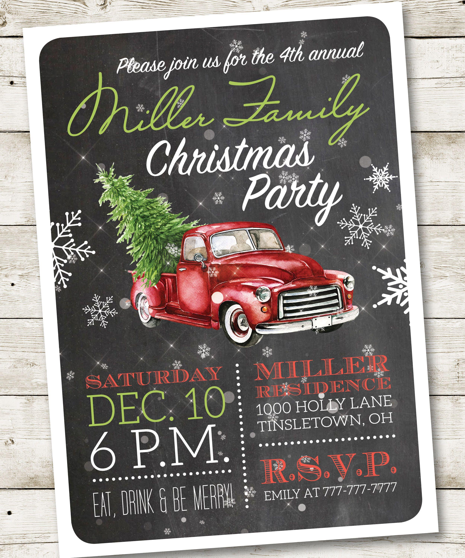 Attractive Christmas Party Poem Invitation Gift - Invitations Design ...