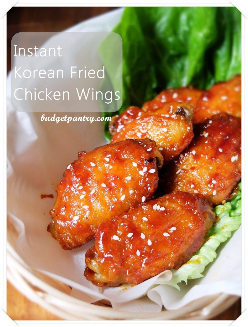 Instant Korean Air Fried Chicken Wings Air fryer recipes