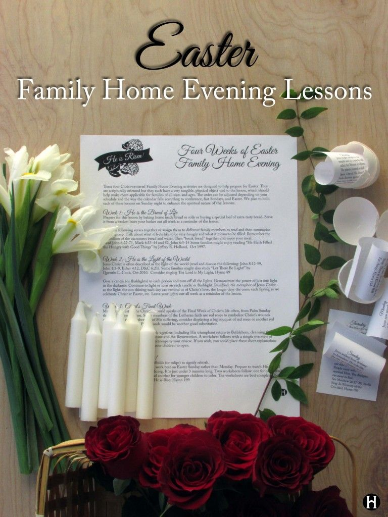 easter family home evening lessons the mormon home the mormon home