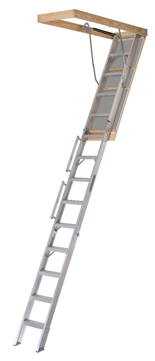 Louisville Ladder Al228p Folding Attic Ladders 22 1 2 Attic Ladder Attic Renovation Attic Rooms
