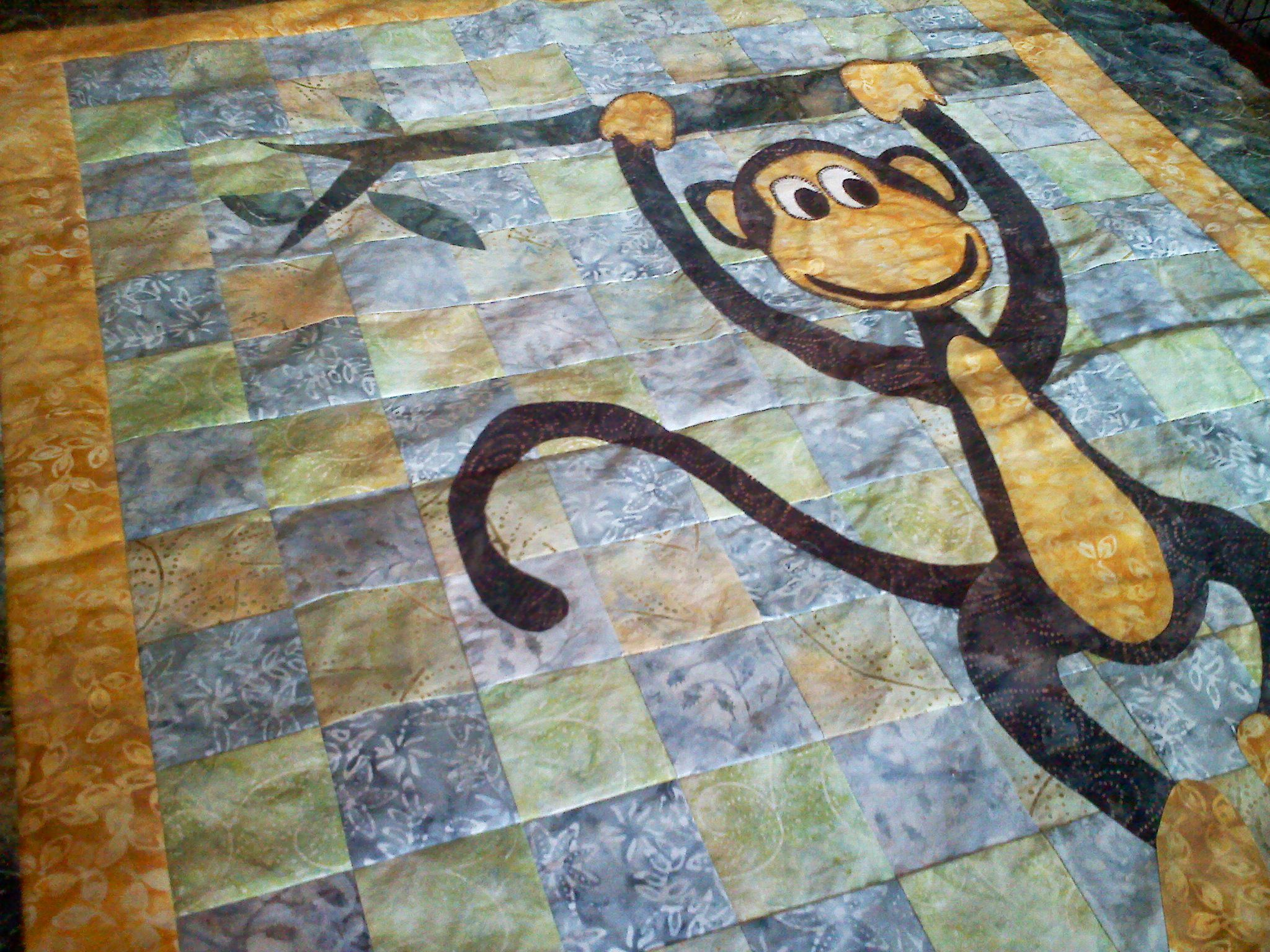 free patterns for baby quilts   The monkey baby quilt is taking ... : monkey baby quilt pattern - Adamdwight.com