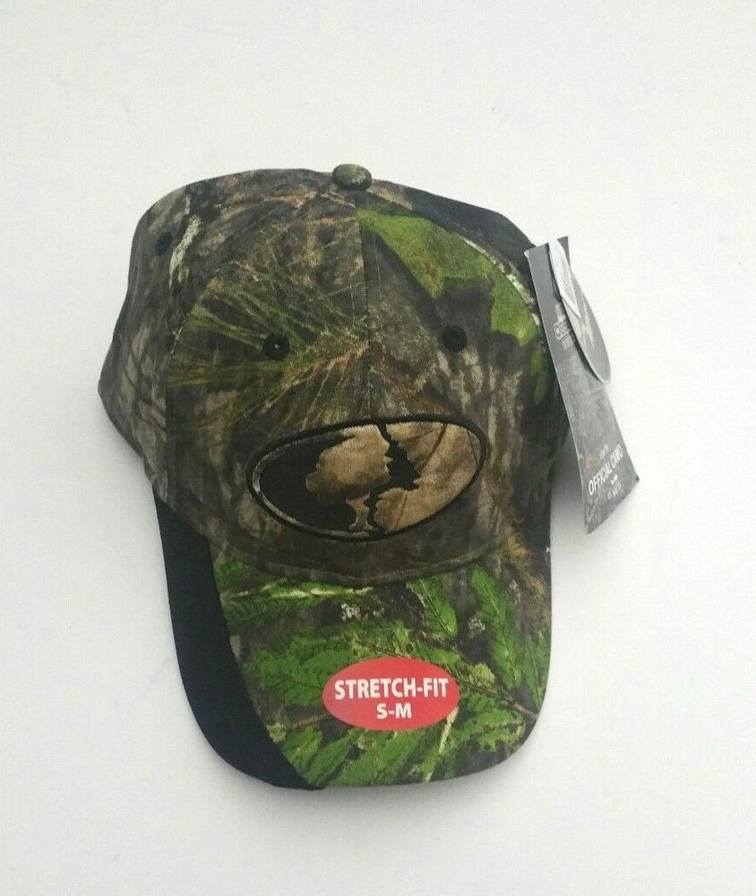 Mossy Oak Camo Obsession Call Pocket Flexible Stretch Fitted Cap Size S-M   MossyOak 8d92ba4baaf3