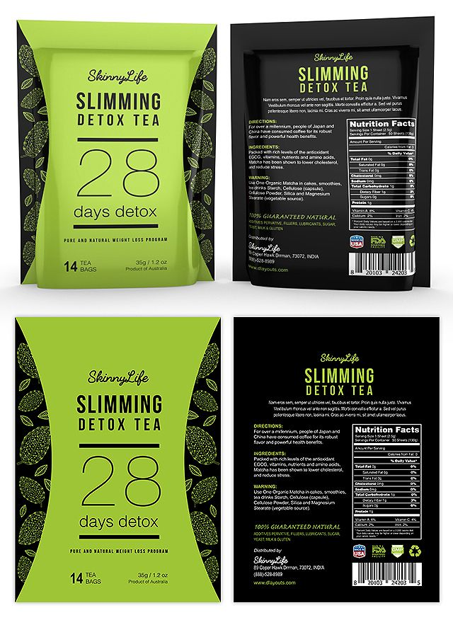 Slimming Detox Tea Label Template  Creative Brochure Templates