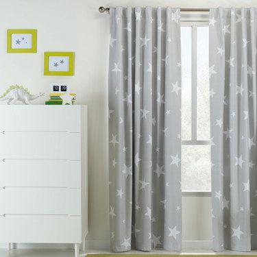 Beautiful Kids House Star Tab Top Curtain Lovely - Contemporary Nursery Curtains Amazing