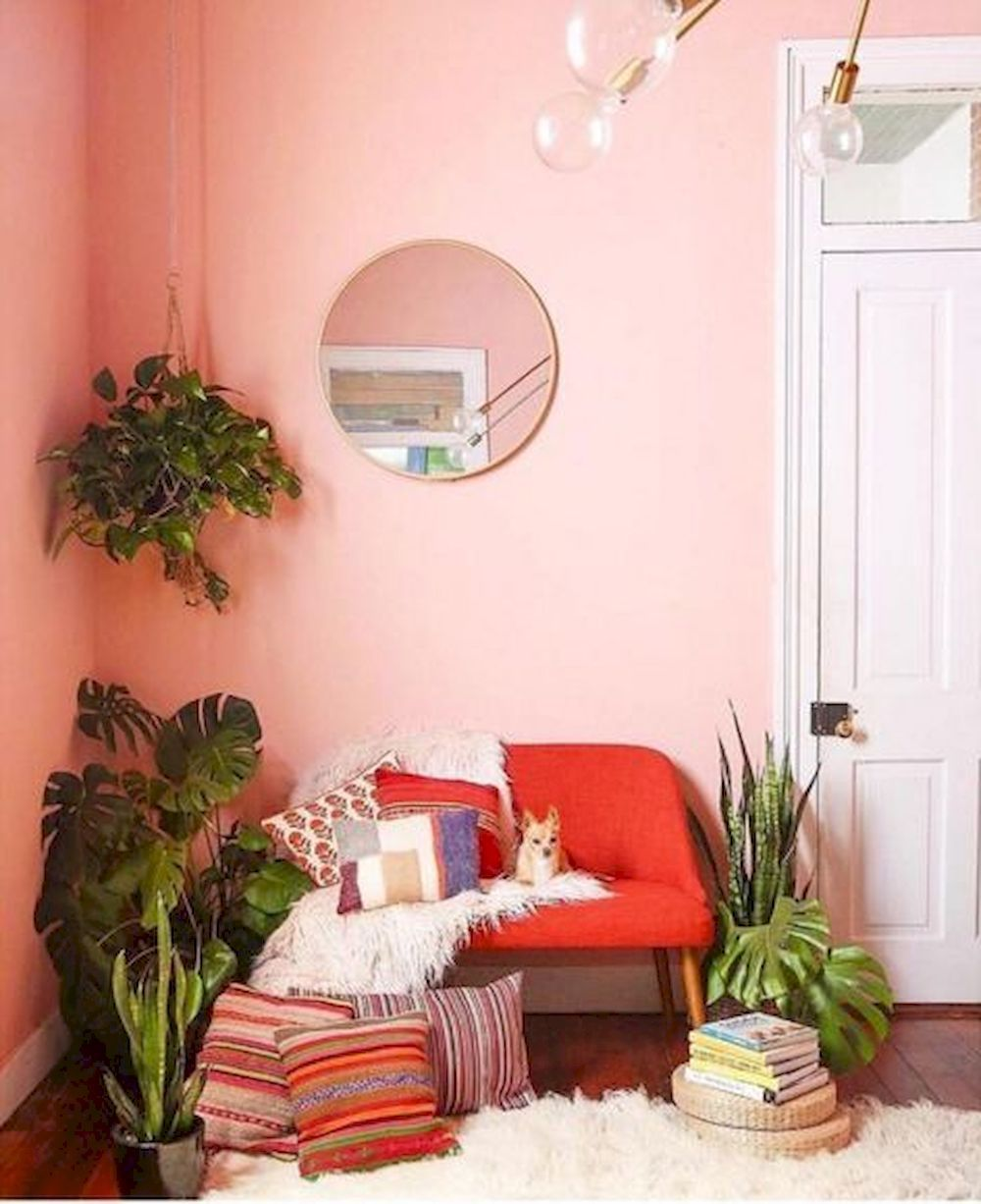 Coral Room Ideas Pink Accents Living Room Coral Room Coral Home Decor