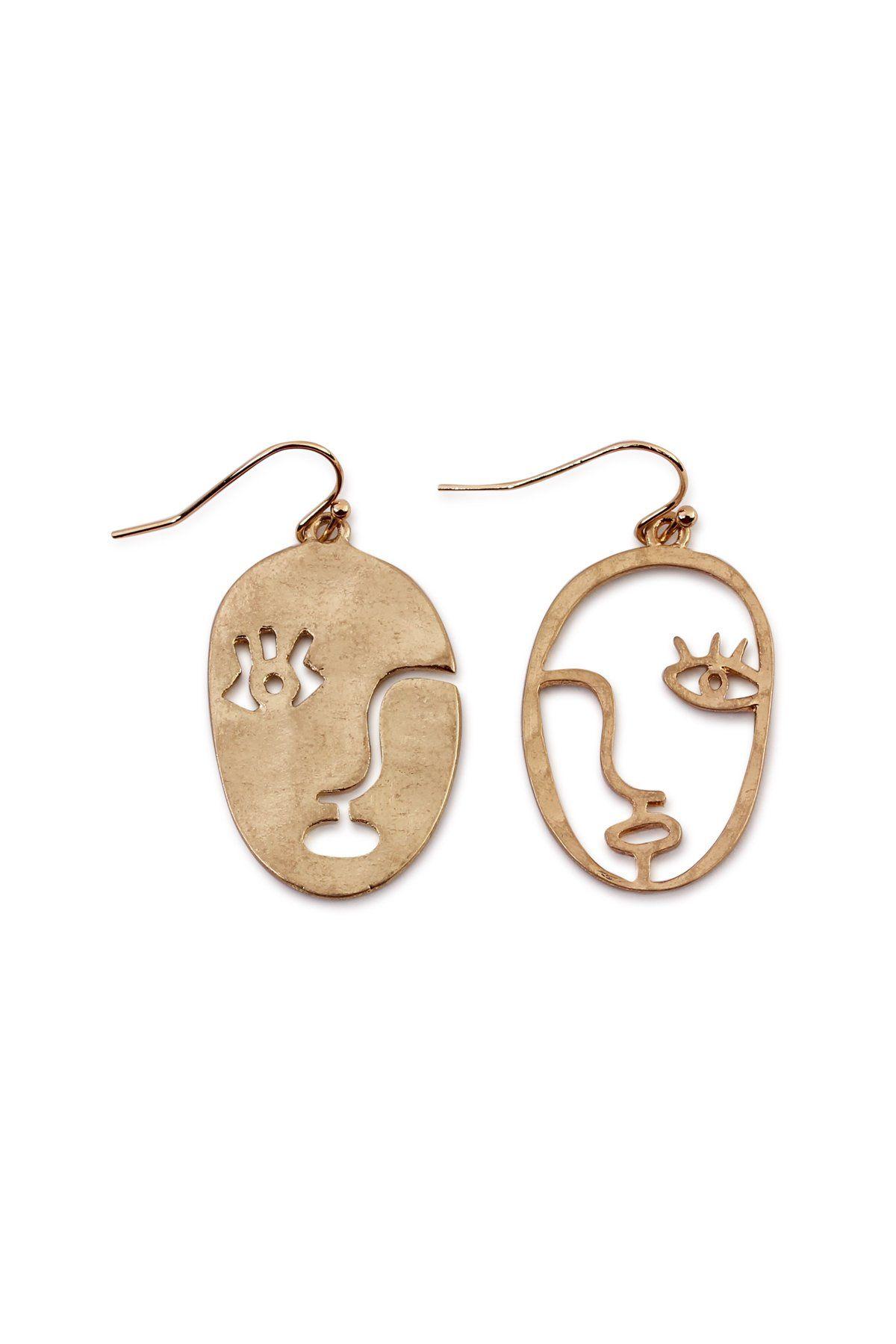 94d29976a Abstract Face Earrings in 2019   Earrings   Face earrings, Funky ...