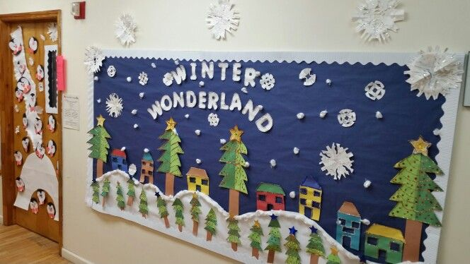 Winter Wonderland Bulletin Board Theme Christmas Crafts