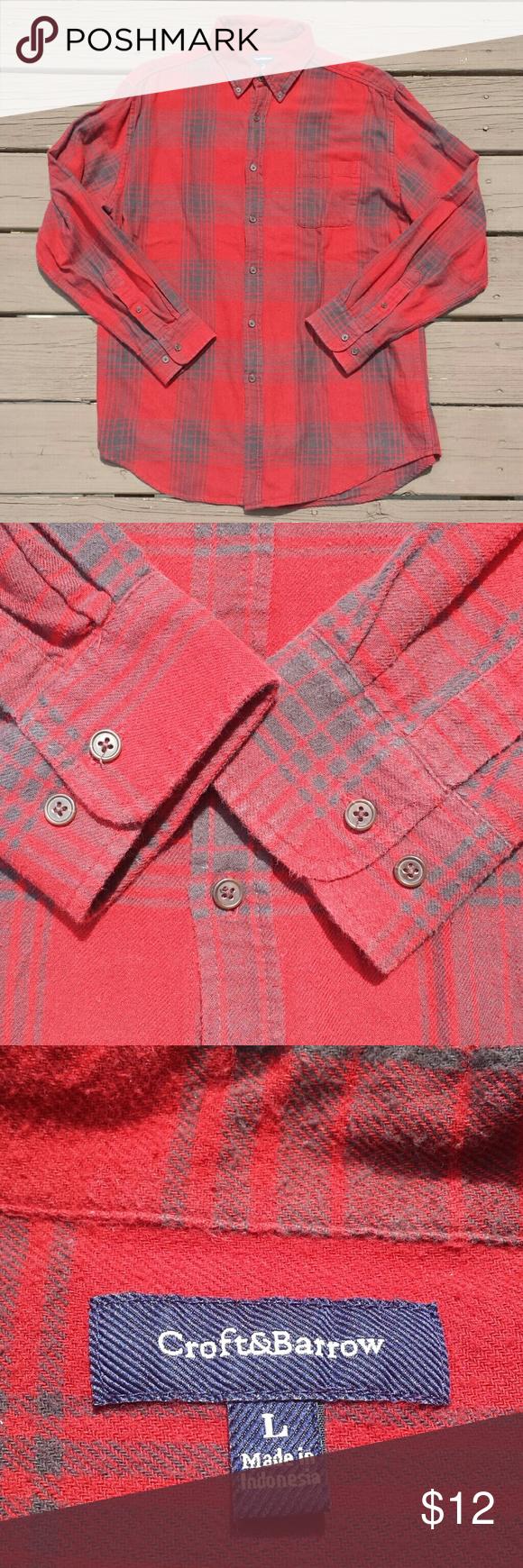 Flannel shirt black  Red and Black Plaid Lumberjack Flannel Shirt  My Posh Picks