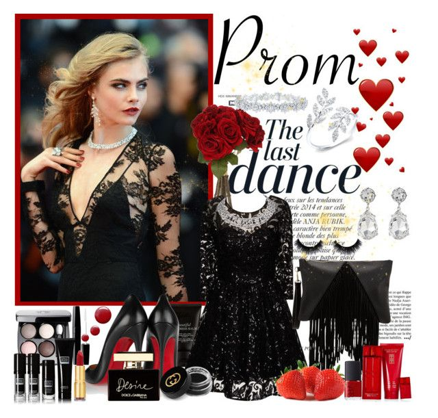 """""""Prom"""" by anilia ❤ liked on Polyvore featuring Rossetto, Anja, Sia, Chi Chi, Christian Louboutin, Chanel, Gucci, Dolce&Gabbana, Topshop and Isaac Mizrahi"""