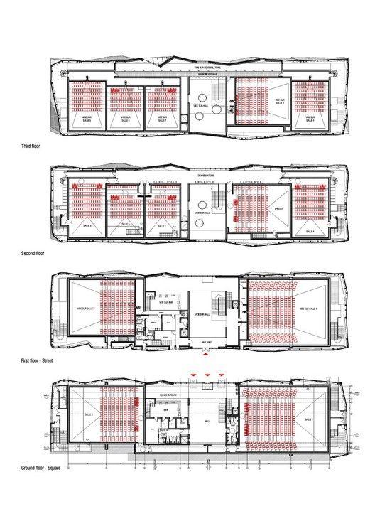 Le Cristal Cinema And Michel Crespin Square Lineaire A Cinema Design Cinema Architecture Square Floor Plans