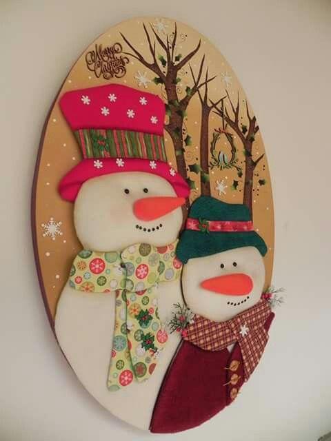 Snowman pachwork sin aguja..