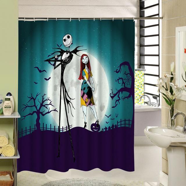 Waterproof 3d Halloween Shower Curtain Nightmare Before Christmas