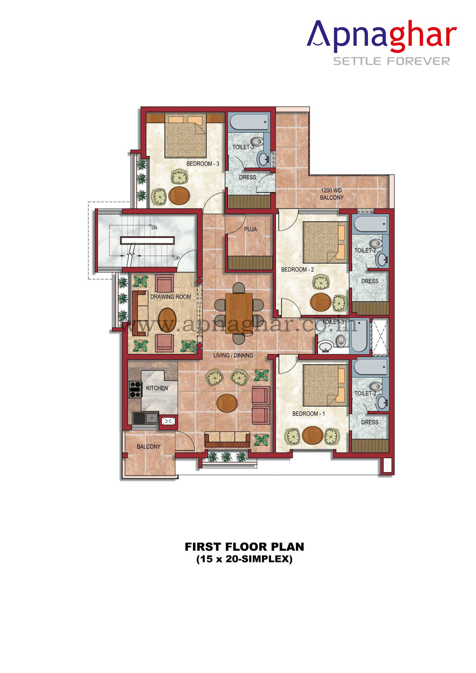 Get Floor Plan For All The Floors Of Your House Designed By Expert Architects
