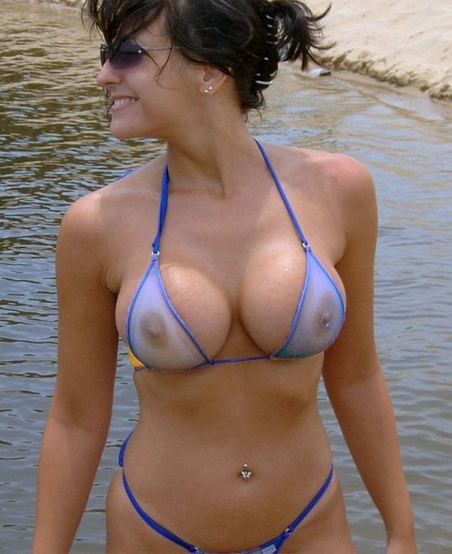 through Mature micro bikinis see