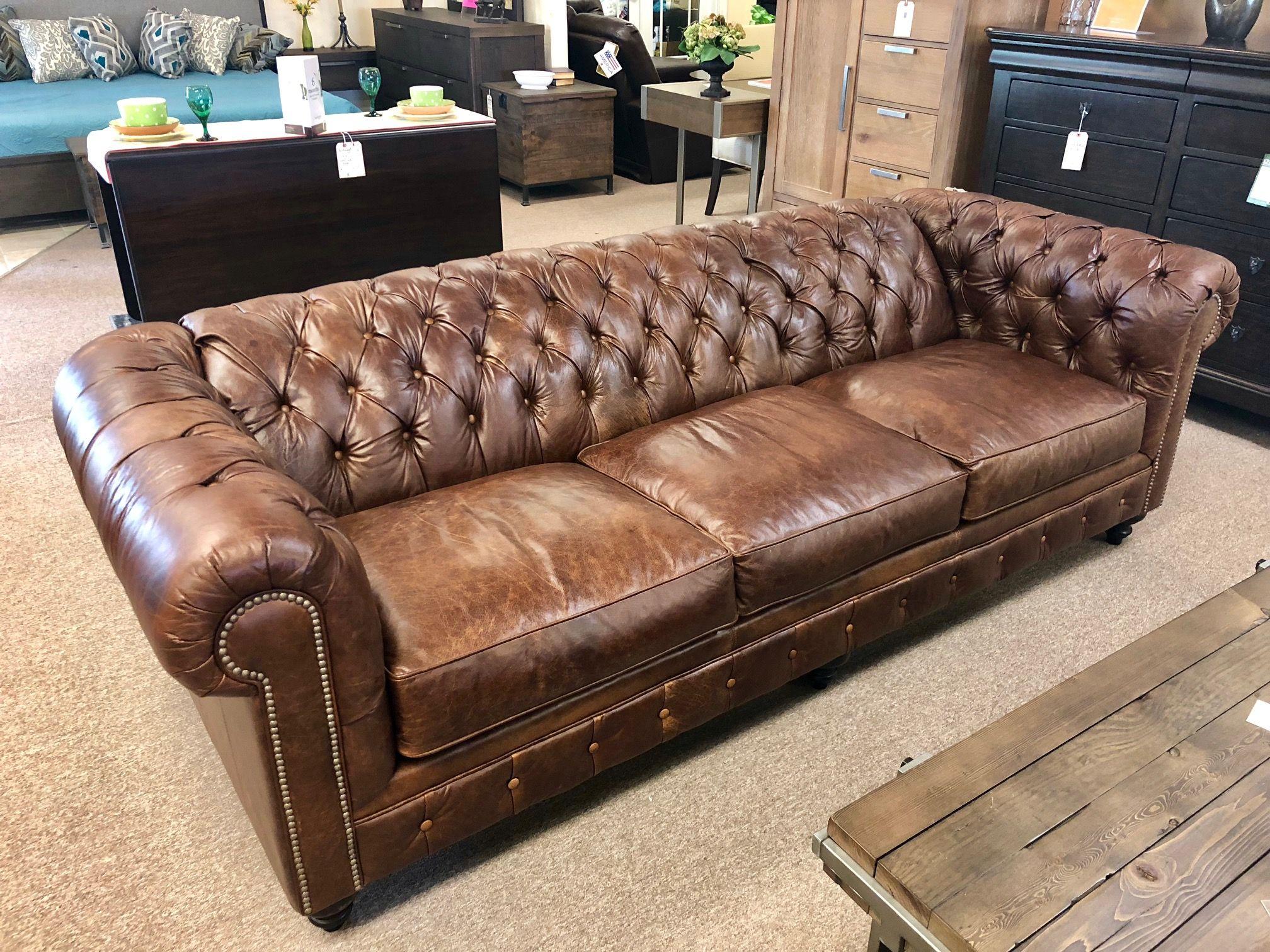 ALL leather tufted sofa Nc furniture, Furniture