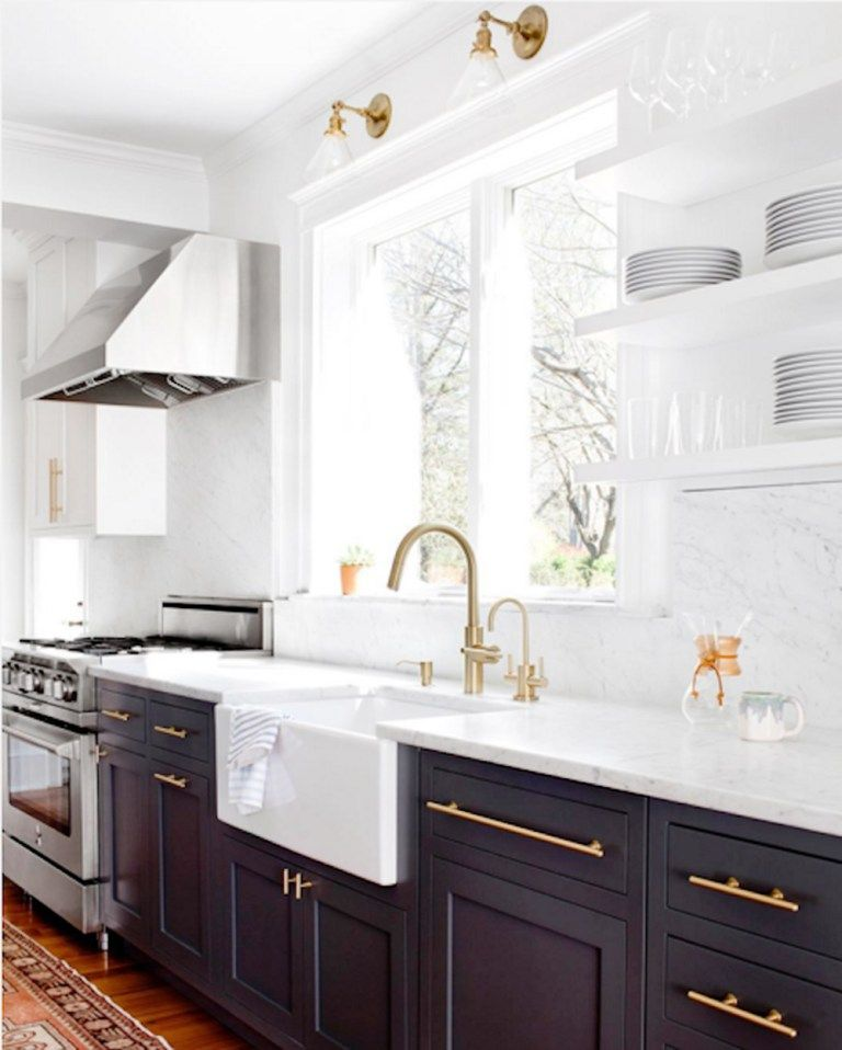 Get The Look The Two Tone Kitchen Kitchen Remodel Small Home Decor Kitchen New Kitchen Cabinets