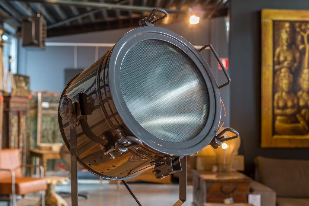 Staande lamp landelijk rustiek industrie look stoere lampen